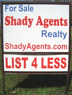 Shady Agents Discount Commisison