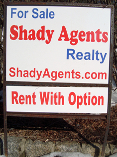 Shady Agents - rent with option